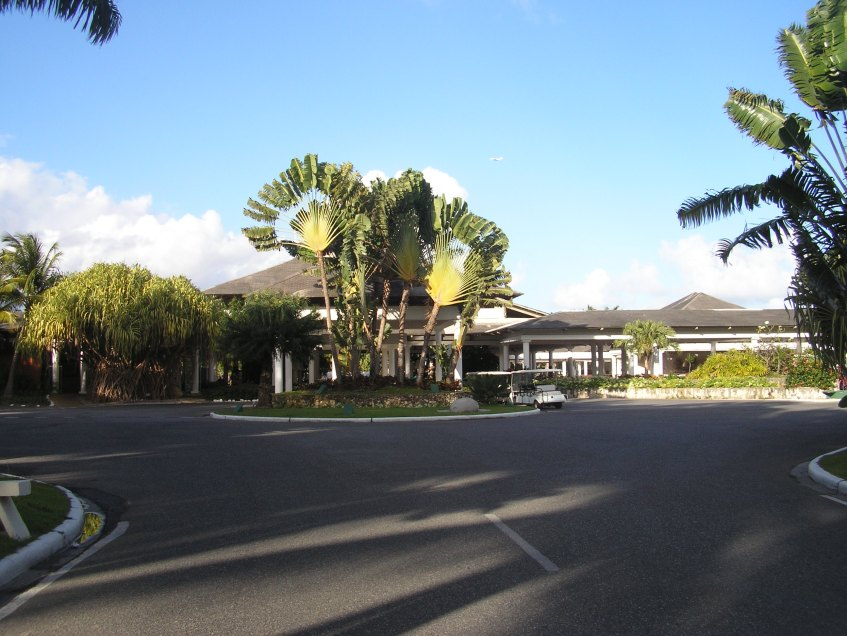 Viewing the front of the resort