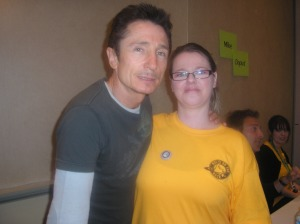 Me and Dominic Keating